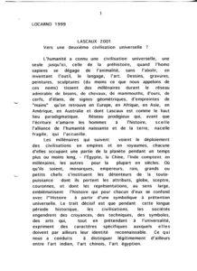 Berger Lascaux 2001 Vers une deuxieme civilisation universelle Locarno 1999 PP525 706