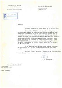 VAF 1980 19800723 Ambassade France VAF Masi