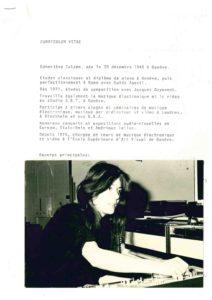 VAF 1980 CV Calame Genevieve Masi