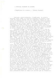 VAF 1980 Courant Gerard Experience Locarno Masi