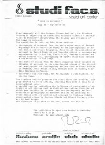 VAF 1980 Flaviana lineinmovement comm presse PP525 1794