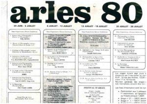 VAF 1980 Programme Rencontres Arles 1980 Masi