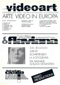 VAF 1981 Videoart in Europe Masi