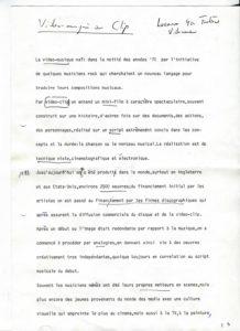 VAF 1983 Videomusic ou clip PP525 1797
