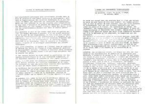 VAF 1984 Bardonnaud Culture Nouvelles Technologies Brochure Masi
