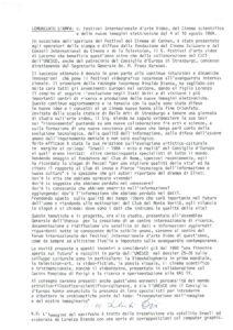 VAF 1984 Communique Presse Annonce VAF Masi