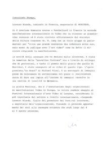 VAF 1984 Communique Presse Nomination Lorenzo Bianda Secretaire Moniteur Masi