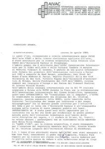 VAF 1984 Communique presse 19840420 Masi
