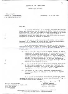 VAF 1984 Conseildeleurope Correspondance PP525 1798