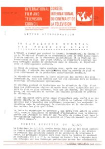 VAF 1984 Lettre Information Conseil international cinema Tv Masi