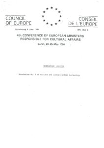 VAF 1984 Resolutions Conseil Europe 198405 Masi
