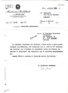 VAF 1985 19850709 ministeroperibeniculturali VAF PP525 1799