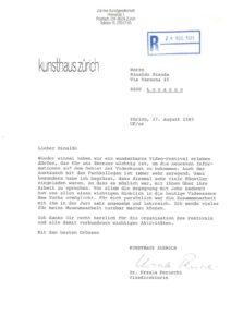 VAF 1985 19850827 Perucchi Bianda Kunsthaus Zurich Masi