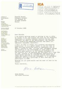 VAF 1985 19851017 Graham Bianda ICA London Masi