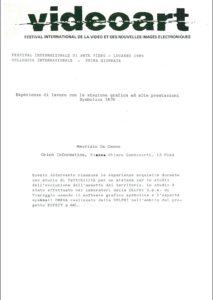 VAF 1985 Colloque De Cecco Masi
