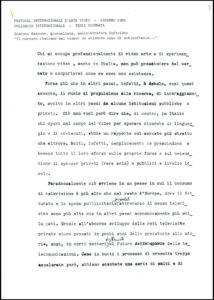 VAF 1985 Colloque Mazzone mercato italiano Video Masi