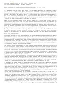 VAF 1985 Colloque Tiezzi Cosciencia Classe Spezie Masi