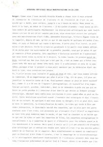 VAF 1985 Ouverture officielle Transcriptions Masi