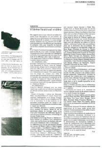 VAF 1985 Presse VIe Festival Video Masi