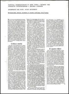 VAF 1985 colloque Aristarco Guido evoluzione scienza nuova nozione arte PP525 1799