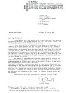 VAF 1986 19860716 Bianda Portoghesi Biennale Venezia Masi