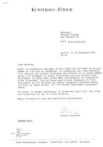 VAF 1987 Perucchi Ursula Tendances de lart video suisse