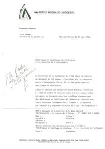 VAF 1988 19880518 INA Annonce publication Holtz Bonneau Masi