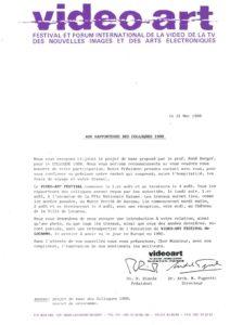 VAF 1988 19880531 VAF Rapporteurs Colloques Masi