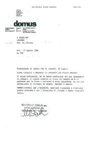 VAF 1988 19880801 Domus VAF Restany Masi