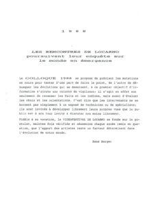 VAF 1988 Berger Introduction Colloque Masi