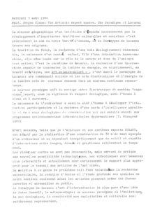 VAF 1988 Claus Paradigme Locarno Resume Masi