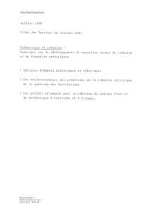 VAF 1988 Eisenbeis Technologie creation plan Masi