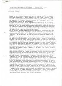VAF 1988 Fagone Vittorio art electronique PP525 1802
