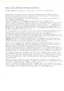 VAF 1988 Mattioli Ecologie Technologie Creativite resume Masi