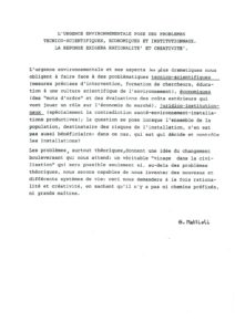 VAF 1988 Mattioli urgence Environnementale Masi