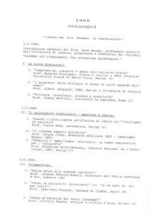 VAF 1988 Programme Colloqui Programmes Masi