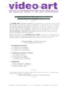 VAF 1988 Programme Rencontres Provisoire Masi