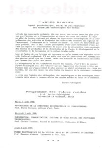 VAF 1988 Programme Tables Rondes2 Masi