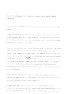 VAF 1988 Remy intelligence artificielle naturelle long Masi