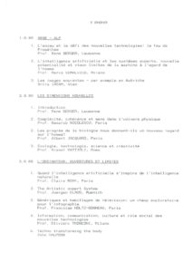 VAF 1988 Sommaire resume Masi