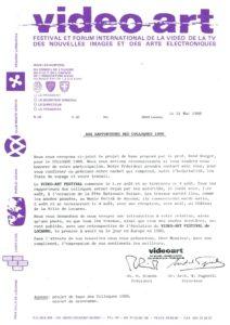 VAF 1988 VAF Rapporteurs Programme provisoire Masi