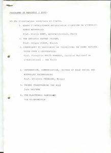 VAF 1988 programme Colloque 3aout PP525 1802