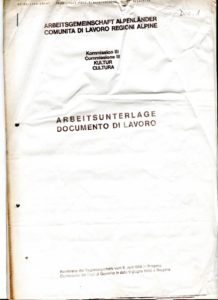 VAF 1989 Commission culture region alpine doc travail PP525 1803