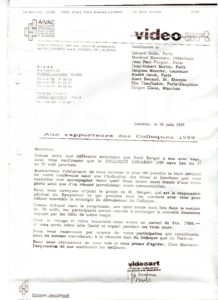 VAF 1991 19890626 VAF Rapporteurs Colloques PP525 1805