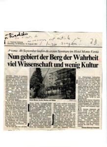 VAF 1991 19910814 Berger Bianda Article Tessiner Zeintung PP525 1805