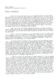 VAF 1991 Charles Musique synchronicite Masi