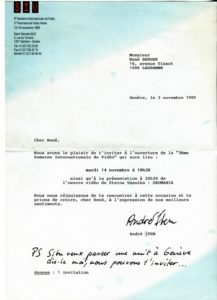VAF 1991 Correspondance Saint Gervais Iten Hiller PP5251275