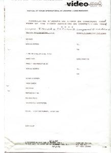 VAF 1991 Formulaire admission video PP525 1805