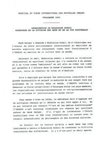 VAF 1991 Gobeil Intervention Masi
