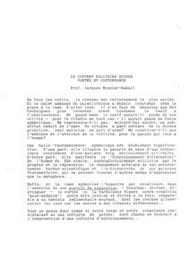 VAF 1991 Monnier Raball Couteau Militaire Suisse resume Masi